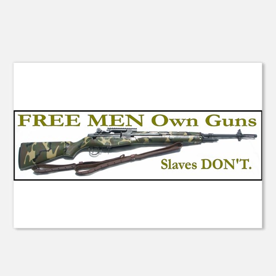 Free Men own rifles Postcards (Package of 8)