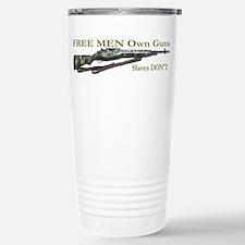 Free Men own rifles Travel Mug
