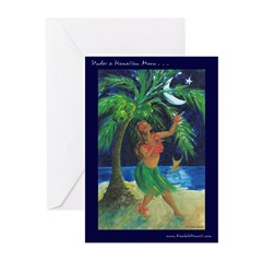 Under a Hula Moon Greeting Cards (Pk of 20)