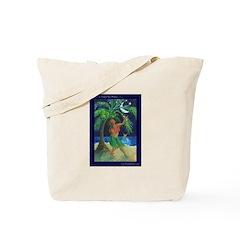 Under a Hula Moon Tote Bag