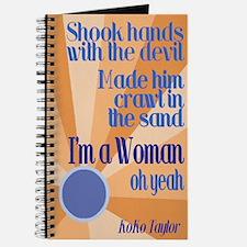 I'm a Woman Theme Journal