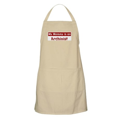 Mom is a Archivist BBQ Apron