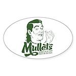 Mullets Oval Sticker (10 pk)