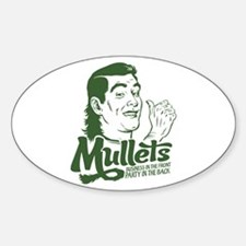Mullets Oval Decal