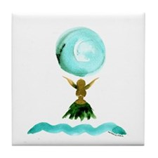 Hula Moon Tile Coaster