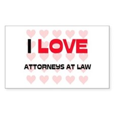 I LOVE ATTORNEYS AT LAW Rectangle Decal