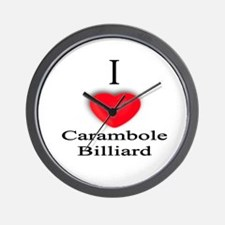 Carambole Billiard Wall Clock
