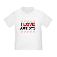 I LOVE ARTISTS T