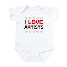 I LOVE ARTISTS Infant Bodysuit