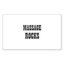 MASSAGE ROCKS Rectangle Decal