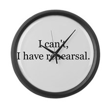 Funny Theater director Large Wall Clock