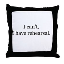 Funny Theatre geek Throw Pillow