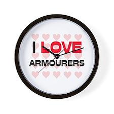 I LOVE ARMOURERS Wall Clock