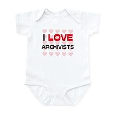 I LOVE ARCHIVISTS Infant Bodysuit