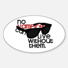 No Vampire - Oval Decal