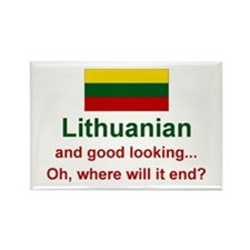 Good Looking Lithuanian Rectangle Magnet
