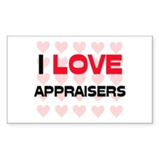 I LOVE APPRAISERS Rectangle Decal