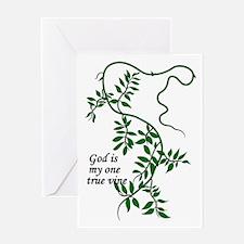 God is my one true vine Greeting Card