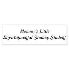 Mommys Little Environmental S Bumper Bumper Sticker