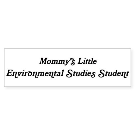 Mommys Little Environmental S Bumper Sticker