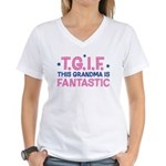 TGIF Fantastic Grandma Women's V-Neck T-Shirt