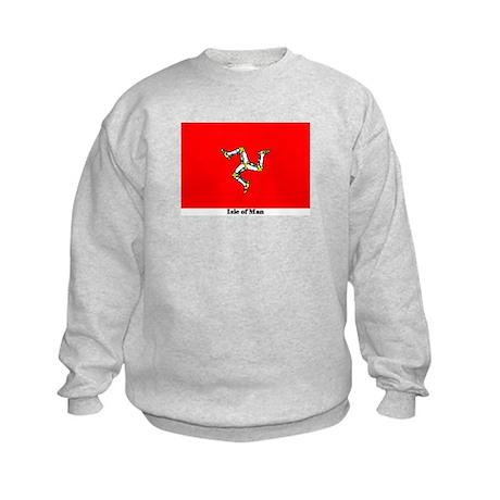 Isle of Man Flag Kids Sweatshirt