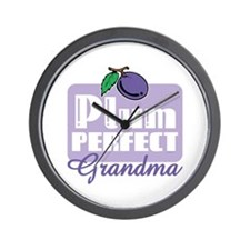 Plum Perfect Grandma Wall Clock