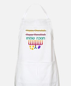 How to Spell Happy Chanukah BBQ Apron