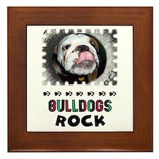 BULL DOGS ROCK Framed Tile