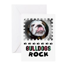 BULL DOGS ROCK Greeting Cards (Pk of 10)