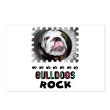 BULL DOGS ROCK Postcards (Package of 8)