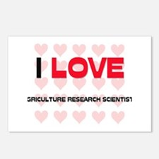 I LOVE AGRICULTURE RESEARCH SCIENTISTS Postcards (