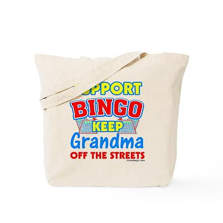 Support Bingo Grandma Tote Bag