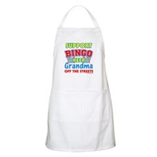 Support Bingo Grandma BBQ Apron