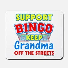 Support Bingo Grandma Mousepad