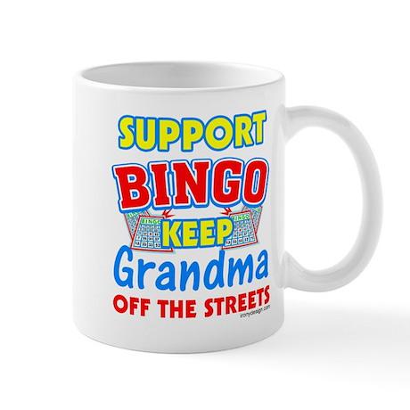 Support Bingo Grandma Mug