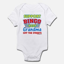 Support Bingo Grandma Infant Bodysuit
