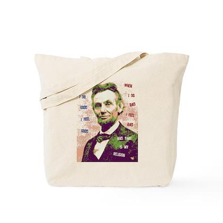 Lincoln Religion Tote Bag