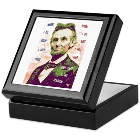 Lincoln Religion Keepsake Box
