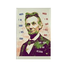 Lincoln Religion Rectangle Magnet