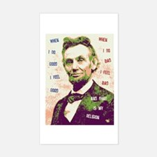 Lincoln Religion Rectangle Decal