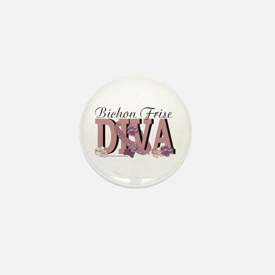 Bichon Frise Diva Mini Button