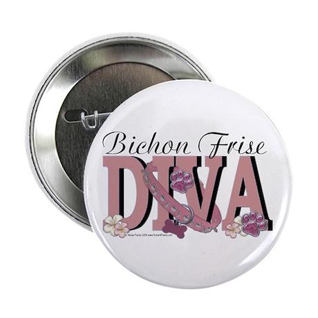 "Bichon Frise Diva 2.25"" Button"