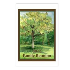Familly Tree with Shade Postcards (Package of 8)