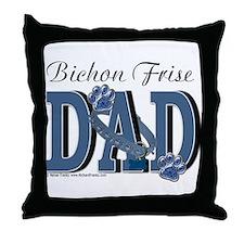 Bichon Frise Dad Throw Pillow