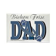 Bichon Frise Dad Rectangle Magnet