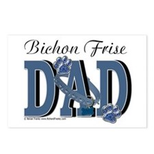 Bichon Frise Dad Postcards (Package of 8)