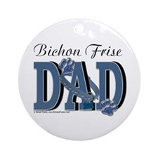 Bichon Frise Dad Ornament (Round)