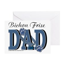 Bichon Frise Dad Greeting Card