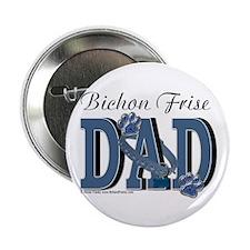 "Bichon Frise Dad 2.25"" Button"